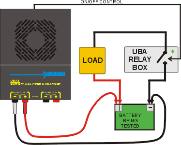 Battery Testing Relay Controlling an External Load